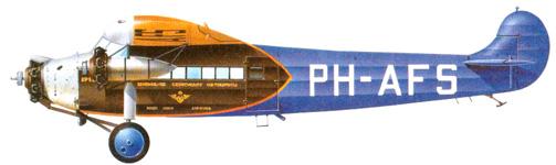 Fokker F.VIIB\3m эксплуатировавшийся авиакомпанией KLM