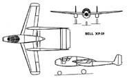 Bell XP-59 (три проекции)