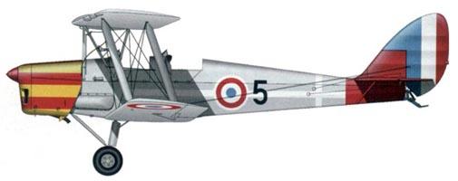 """De Havilland D.H.82 """"Tiger Moth"""" (авиация Виши, Франция, 1941 г.)"""