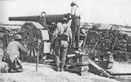 Canon de 120L mle 1878 на огневой позиции