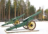 Canon de 120L mle 1878 - два орудия из финского музея