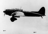 Пикирующий бомбардировщик Aichi D3A2 (задняя часть фонаря демонтирована), 1941 г.