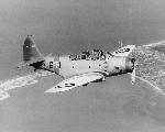 """Douglad TBD-1 """"Devastator"""" - один из торпедоносцев эскажрильи VT-6 в довоенной окраске (номер 6-Т-1), 1938 г."""