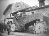 Obice 305/17 mod.1917 на лафета De Stefano захваченная австро-венграми, 1918 г.