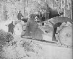 254-мм пушка на лафета De Stefano