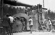 254-мм пушка на лафета De Stefano - установка ствола