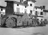 254-мм пушка на лафета De Stefano захваченная немецкими войсками, 1918 г.