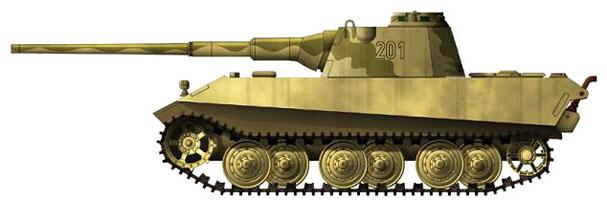 Средний танк E 50 , характеристики и описание