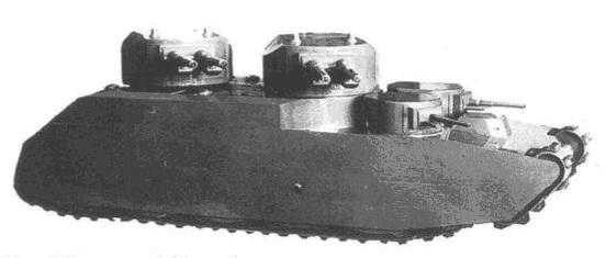 Деревянный макет сверхтяжелого танка ARL Tracteur C образца 1940 г.