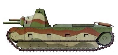 FCM F4 - проектный вид, 1937 г. (боковая проекция)