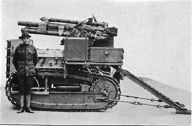 Самоходная установка на базе трактора Holt 55 образца 1917 г.
