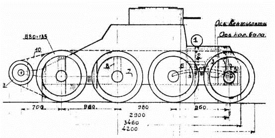 Колесно-гусеничная танкетка Т-25