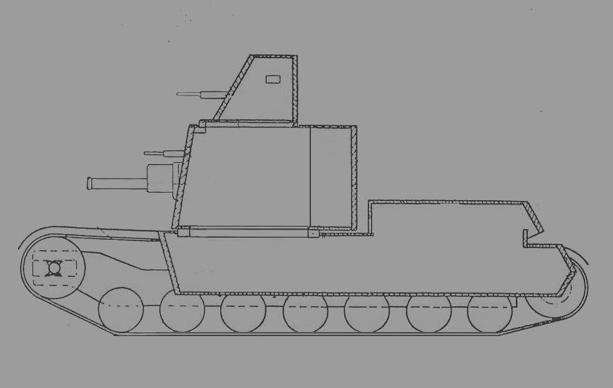 Atypický tank Tatra Средний танк