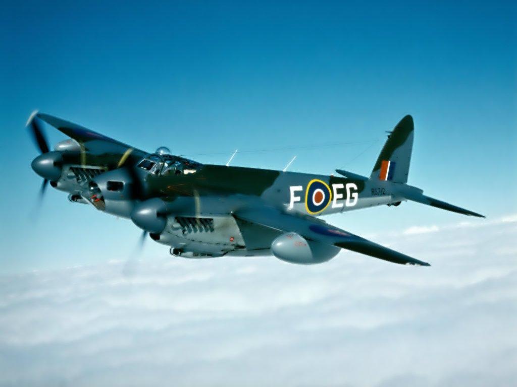 Обои De havilland mosquito, британский многоцелевой бомбардировщик. Авиация foto 12