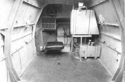 Вид на транспортный отсек и кабину водителя