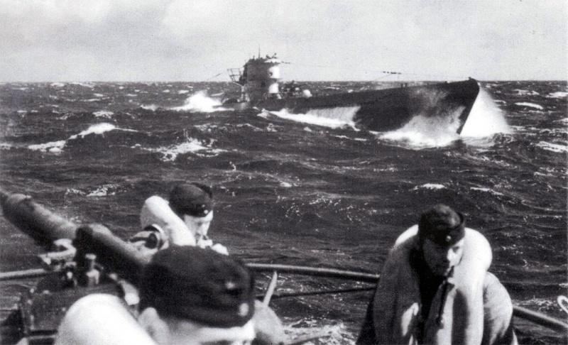 немецкие подлодки атакуют вов