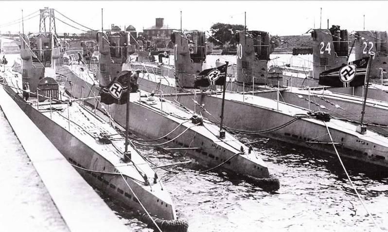 немецкие подлодки атака на базе