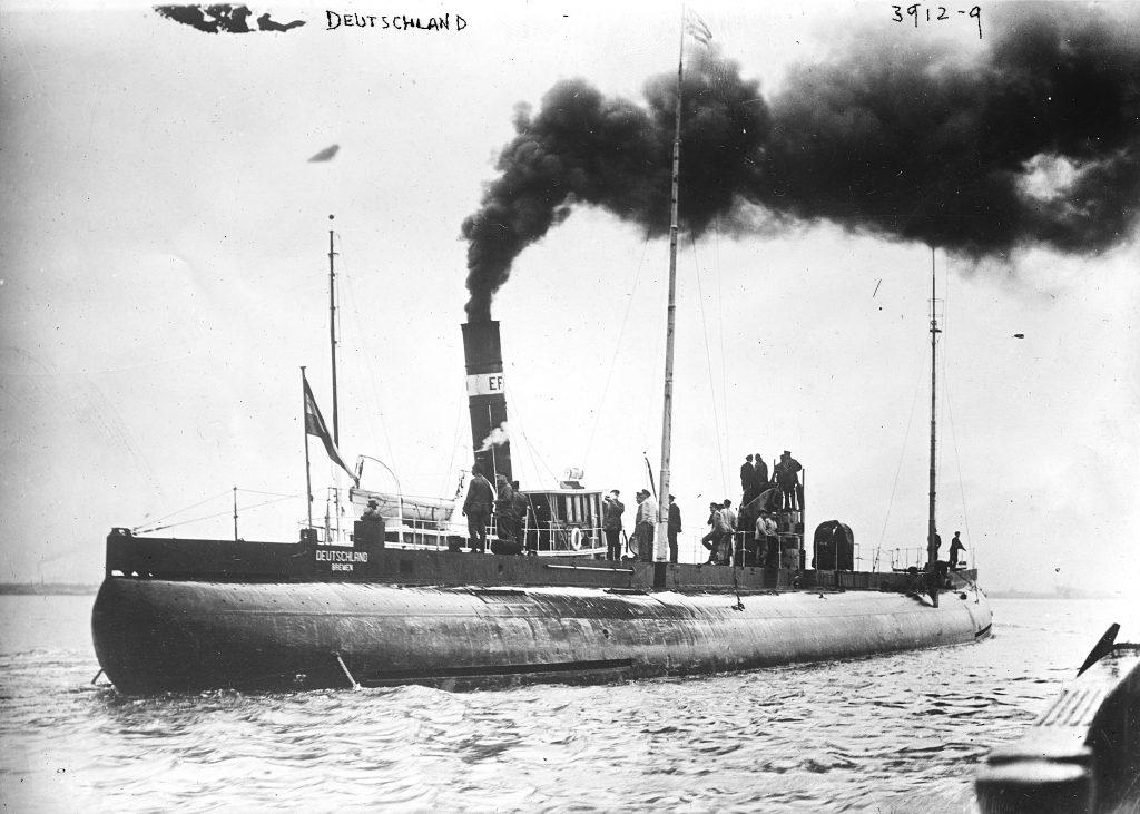 Действия подводных транспортов во время Первой Мировой войны