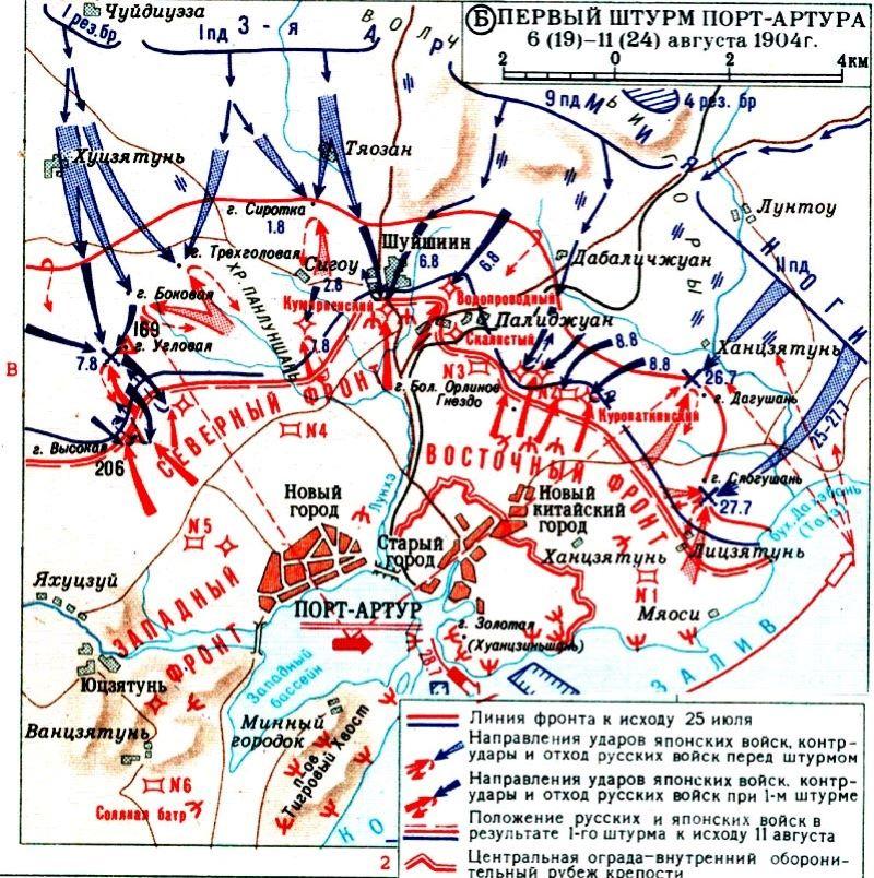Нападение японцев на Порт-Артур в документах